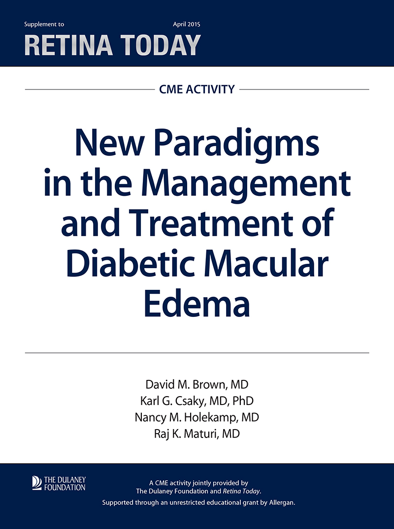 New Paradigms in the Management and Treatment of Diabetic Macular Edema